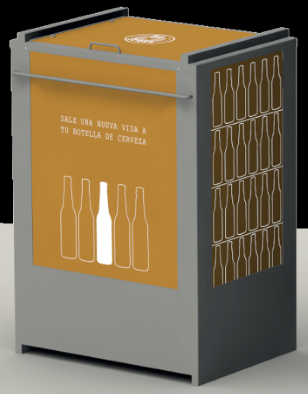 Stackable container for selective collection of glass bottles