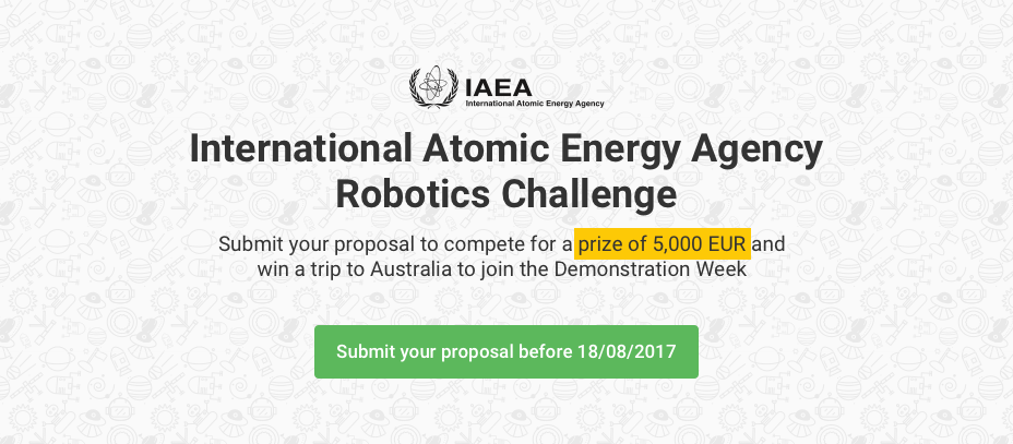The International Atomic Energy Agency (IAEA) partners with Innoget in an international Robotics Challenge