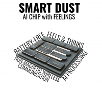 Smart Dust: A Battery-Free, Energy Harvesting Sensor with Integrated Pre-Quantum Superposition Processor and Artificial Intelligence that Communicates Wirelessly and Bidirectionally to the Cloud (RF-Free & Zero Power).