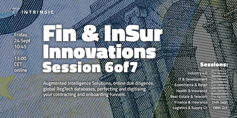 Finance and Insurance Innovations Conference | Session 6 of 7